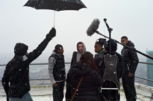 cold rooftop shoot